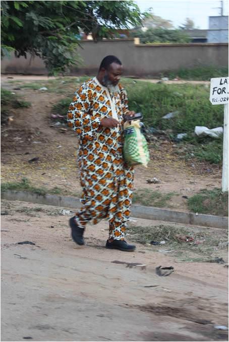 Ghanian Man Walking