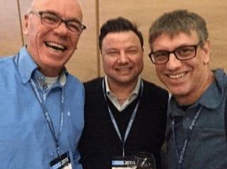 With Jan Willem Tromp and Yuri Warczynski from GLOW Management