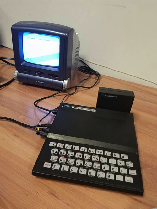 A classic Sinclair computer in the vintage computer collection at IT Arena